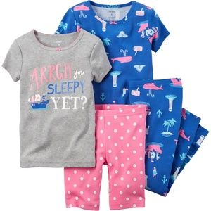 Carter's Baby Girl Pirate 4-Pc. Pajama Set, 6M